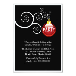 Elegant Holiday Christmas Party Invitations