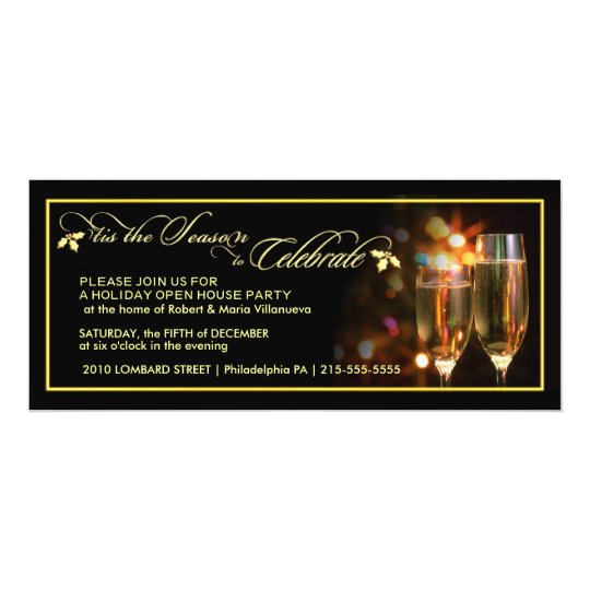 Elegant Holiday Party Invitations - Open House
