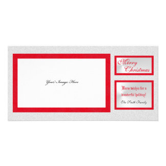 Elegant Holiday Picture Christmas Photo Card