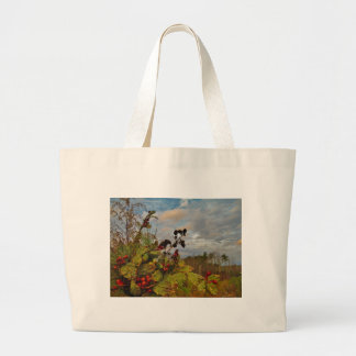 Elegant Holly Christmas, Tote Bags
