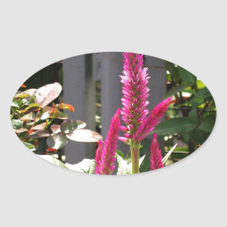 Elegant Home Garden Flower TEMPLATE Resellers FUN Oval Stickers