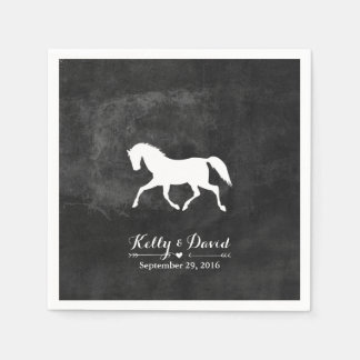 Elegant Horse Wedding Disposable Napkins
