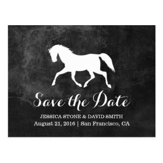Elegant Horse Wedding Save the Date Postcard