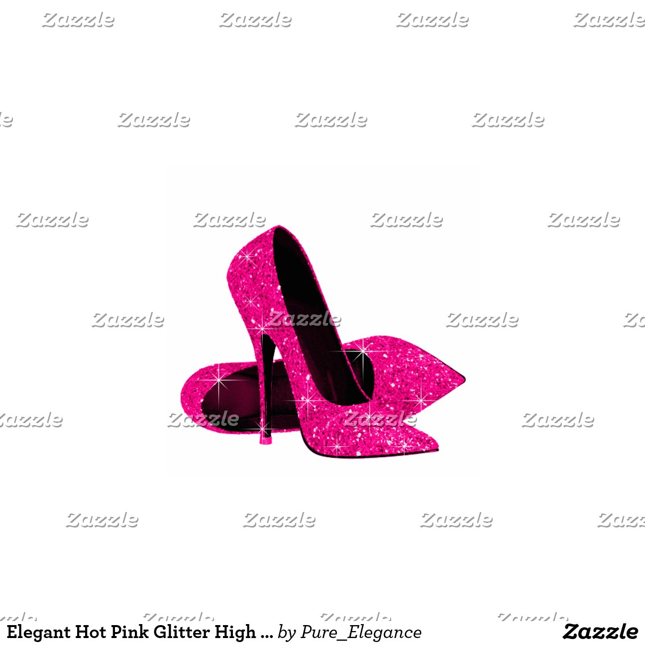 pink glitter high heel shoes zazzle