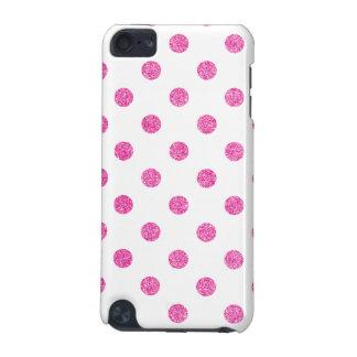 Elegant Hot Pink Glitter Polka Dots Pattern iPod Touch 5G Case