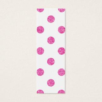 Elegant Hot Pink Glitter Polka Dots Pattern Mini Business Card