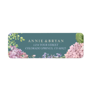 Elegant Hydrangeas Return Address Label