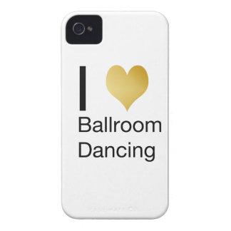 Elegant I Heart Ballroom Dancing Case-Mate iPhone 4 Cases