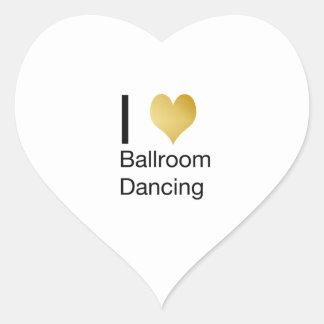 Elegant I Heart Ballroom Dancing Heart Sticker