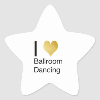 Elegant I Heart Ballroom Dancing Star Sticker