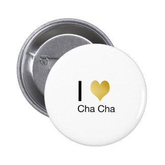 Elegant I Heart Cha Cha 6 Cm Round Badge