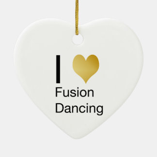 Elegant I Heart Fusion Dancing Ceramic Ornament