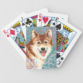 Elegant Icelandic Sheepdog Bicycle Playing Cards