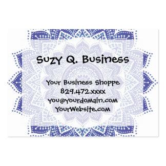 Elegant Indian Ornamental Vintage Design Purple Pack Of Chubby Business Cards