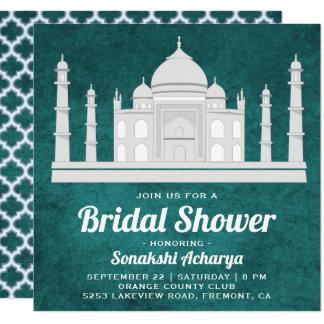 Elegant Indian Taj Mahal Bridal Shower Invitation