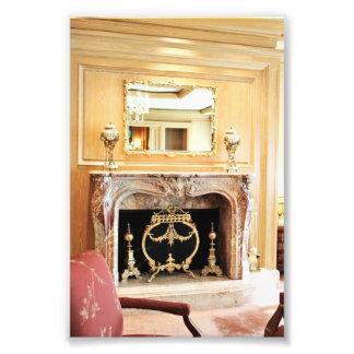 elegant interior fireplace photo
