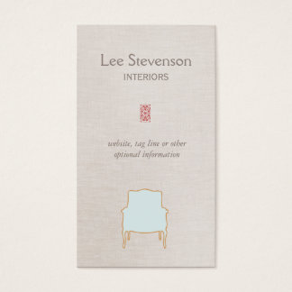 Elegant Interiors Business Card