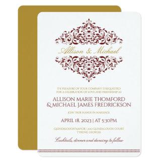 Elegant Invitation | Charlene (Burgundy & Gold)