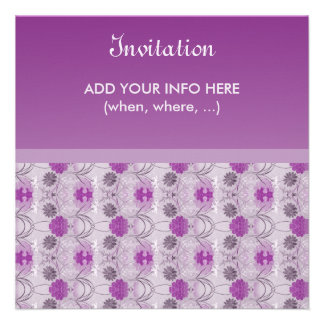 Elegant Invitation - Raiselin purple