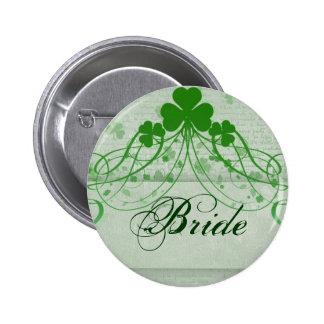 Elegant Irish Pinback Button