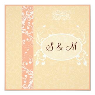 "elegant Islamic wedding invitation katb kitab 5.25"" Square Invitation Card"