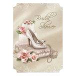 Elegant Ivory Bridal Shower Custom Announcements