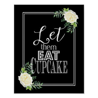Elegant Ivory Chic Rose Let them eat cake print