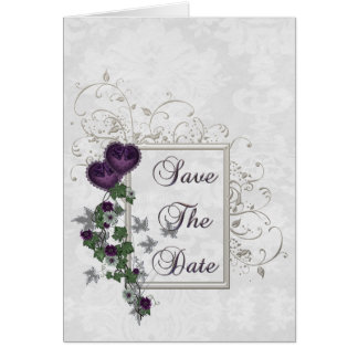 Elegant Ivy Wedding Suite Save the Date Greeting Cards