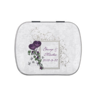 Elegant Ivy Wedding Suite Jelly Belly Candy Tins