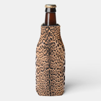 Elegant Jaguar Fur Custom Template Bottle Cooler