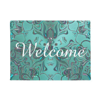 Elegant Jeweled  Mandala Doormat