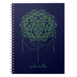 Elegant Jeweled Zen Mandala Notebooks