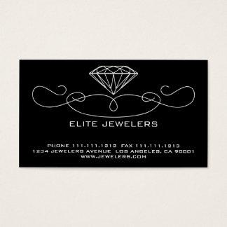 ELEGANT JEWELERS DIAMOND FRONT & BACK VERSION BUSINESS CARD
