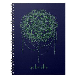 Elegant Jewelled Zen Mandala Notebooks