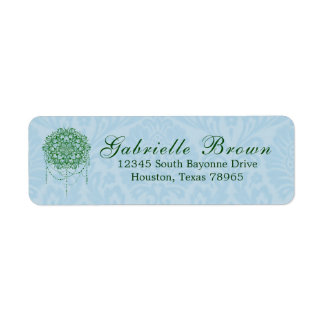 Elegant Jewelled Zen Mandala Return Address Return Address Label