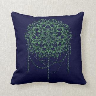Elegant Jewelled Zen Mandala Throw Pillow