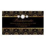Elegant Jewellery Diamonds Gold Black Damask