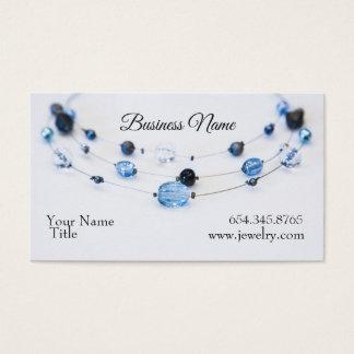 Elegant Jewelry Designer Blue Beads Business Card