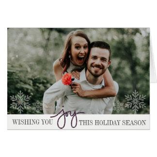 Elegant Joy Folded Photo Card