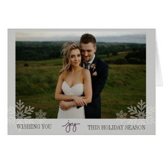 Elegant Joy Snowflake Folded Photo Card
