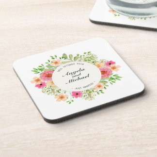 Elegant Just Married Floral Wedding | Coaster