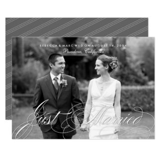 Elegant Just Married Photo Marriage Announcement