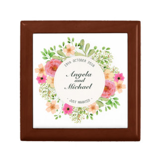 Elegant Just Married Wedding Gift Box
