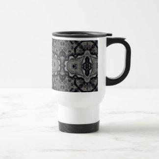 Elegant kaleidoscope stainless steel travel mug