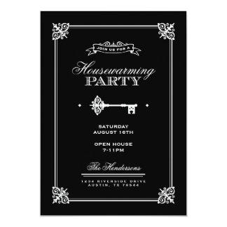 Elegant Key Housewarming Party Card