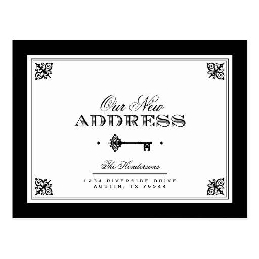 Elegant Key Moving Announcement Post Card