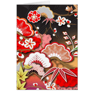 Elegant Kimono - Japanese Design Greeting Cards