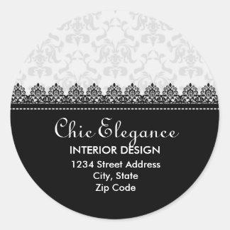 Elegant Lace and Damask Return Address Stickers
