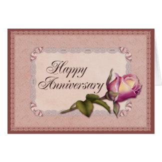 Elegant Lace Anniversary Card