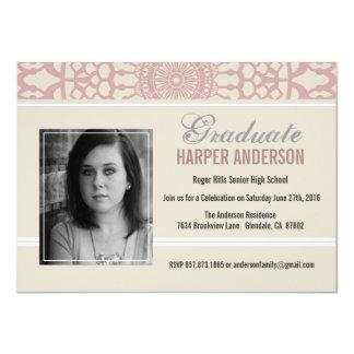 Elegant Lace Graduation Annouoncement Invite
